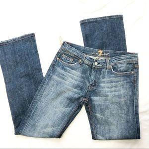 7FAM mid rise denim straight leg jeans size 29